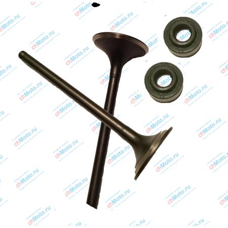 Клапан впускной, клапан выпускной, маслосъемные колпачки (набор) LIFAN LF163 FML-2