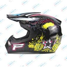 Кроссовый шлем Black P | AHP