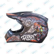 Кроссовый шлем Sebastian Tatan Mejia black | AHP