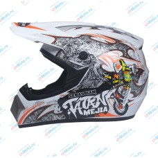 Кроссовый шлем Sebastian Tatan Mejia white | AHP