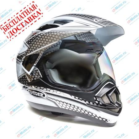 Кроссовый шлем XP-14 A WHITE BLACK | GSB