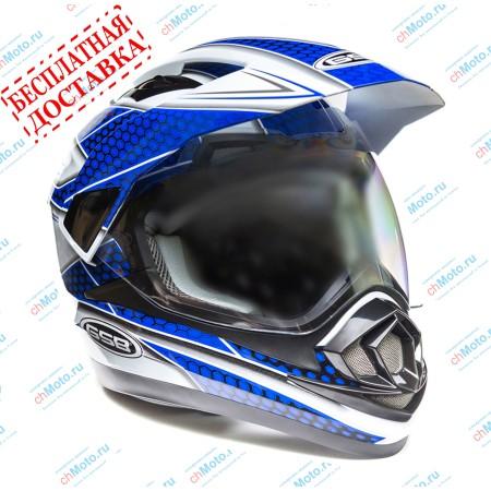 Кроссовый шлем XP-14 A WHITE BLUE | GSB GSB XP-14 А