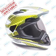 Кроссовый шлем XP-14 A WHITE-FLUO-YELLOW | GSB