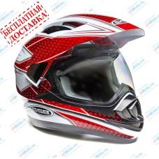 Кроссовый шлем XP-14 A WHITE RED | GSB