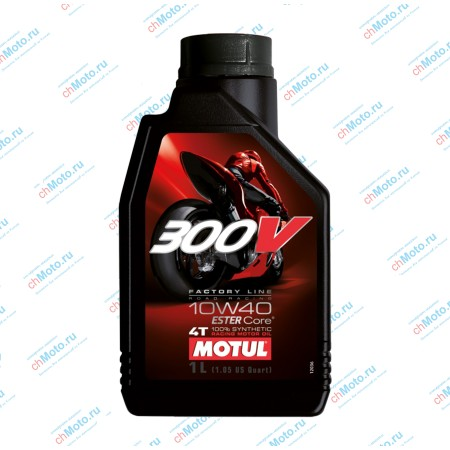 Моторное масло 300V FACTORY LINE ROAD RACING 10W40 (1 литр) | Motul