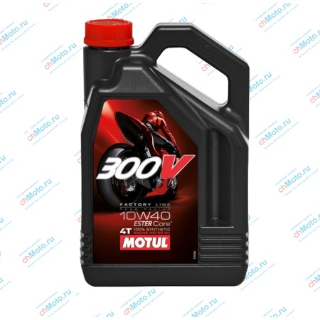 Моторное масло 300V FACTORY LINE ROAD RACING 10W40 | Motul