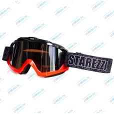 Очки для мотокросса STAREZZI MX 156 BLACK FLUO ORANGE | STAREZZI