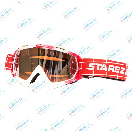 Очки для мотокросса STAREZZI MX 157-806 RED WHITE | STAREZZI MX 157