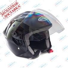 Открытый шлем G-240 BLACK GLOSSY   GSB