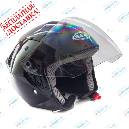 Открытый шлем G-240 BLACK GLOSSY | GSB GSB G-240