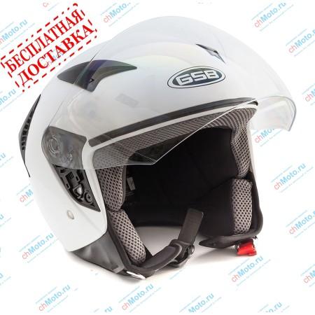 Открытый шлем G-240 WHITE GLOSSY | GSB GSB G-240