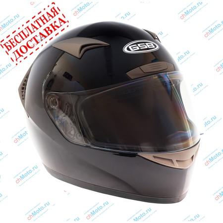 Шлем интеграл G-335 BLACK GLOSSY | GSB