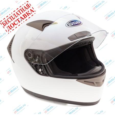 Шлем интеграл G-335 WHITE GLOSSY | GSB