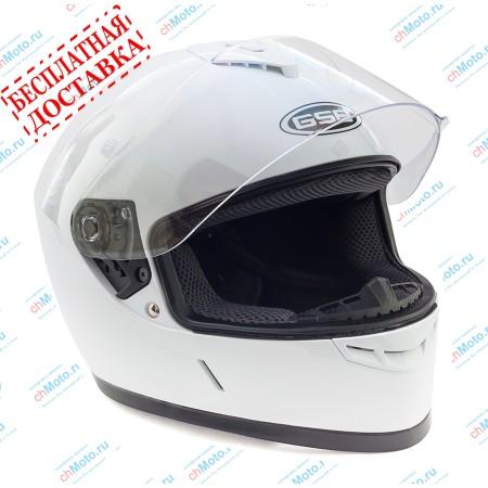 Шлем интеграл G-349 WHITE GLOSSY | GSB
