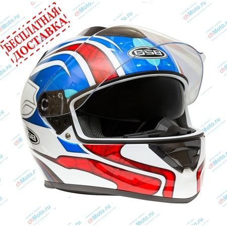Шлем интеграл G-350 BLUE RED | GSB