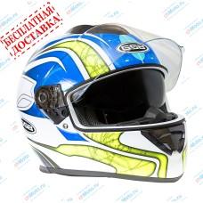 Шлем интеграл G-350 BLUE YELLOW   GSB