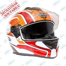 Шлем интеграл G-350 RED WHITE   GSB