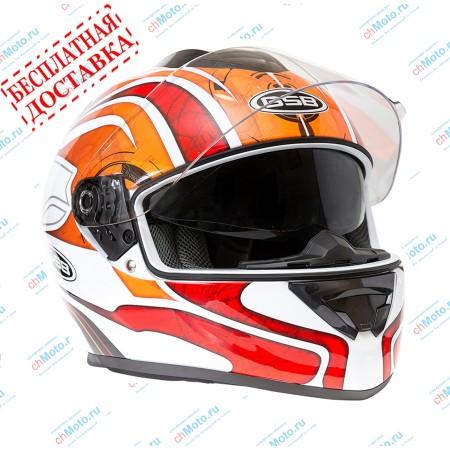 Шлем интеграл G-350 RED WHITE | GSB