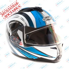 Шлем модуляр G-339 BBW с солнцезащитными очками    GSB