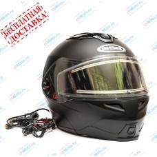 Снегоходный шлем G-339 SNOW BLACK MATT   GSB