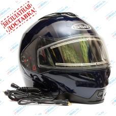 Снегоходный шлем G-339 SNOW BLUE MET   GSB