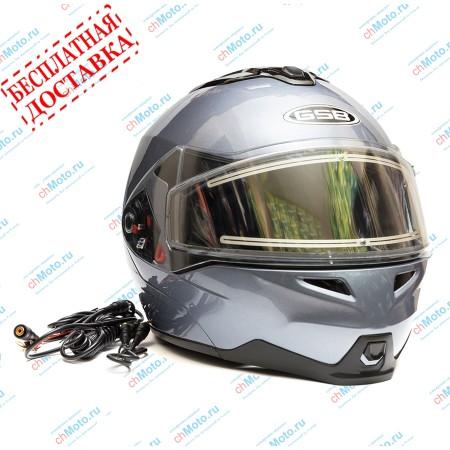 Снегоходный шлем G-339 SNOW GREY MET | GSB