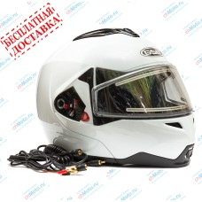 Снегоходный шлем G-339 SNOW WHITE GLOSSY   GSB