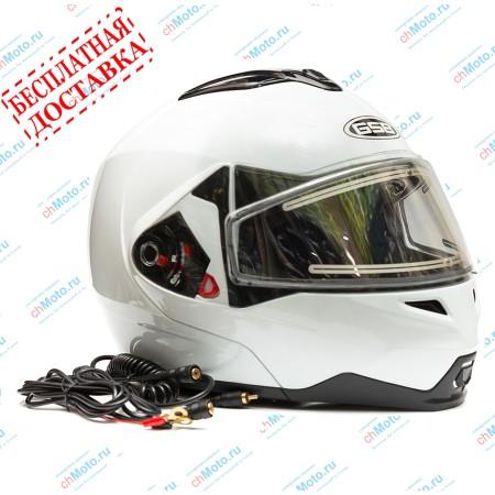 Снегоходный шлем G-339 SNOW WHITE GLOSSY | GSB GSB G-339 SNOW