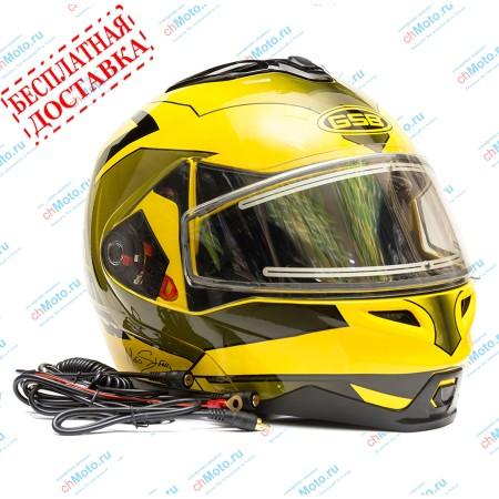 Снегоходный шлем G-339 SNOW YELLOW BLACK | GSB