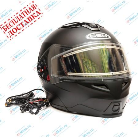 Снегоходный шлем модуляр G-339 SNOW BLACK MATT BLUETOOTH | GSB
