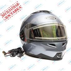 Снегоходный шлем модуляр G-339 SNOW GREY MET BLUETOOTH   GSB