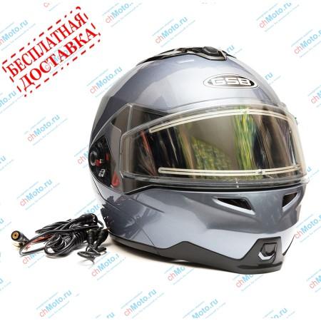 Снегоходный шлем модуляр G-339 SNOW GREY MET BLUETOOTH | GSB GSB G-339 SNOW BLUETOOTH