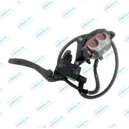 Суппорт тормозной передний, с машинкой, тормозными колодками и рычагом LIFAN LF250 B