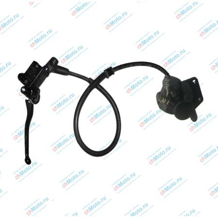 Суппорт тормозной передний, с машинкой, тормозными колодками и рычагом LIFAN LF150-13