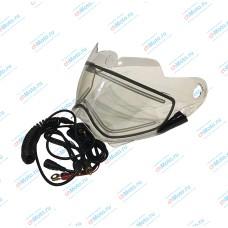 Визор двойной с электрообогревом прозрачный для шлема XP-14A | GSB